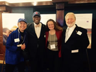 Judith Carta, Ph.D., Mayor Sly James, Dale Walker, Ph.D., Charlies Greenwood, Ph.D.